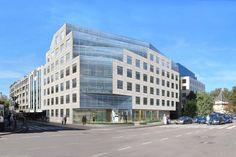Siège Banque de Luxembourg prolongé par un nouveau bâtiment_