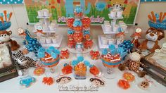 Safari First Birthday Candy Buffet