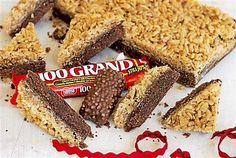 Caramelized Crispy Bar Cookies: A holiday cookie inspired by 100 Grand candy bars