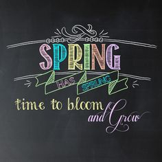 Friday's Freebie: Spring Has Sprung Chalkboard Printable