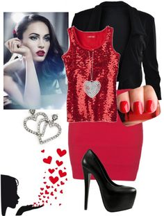 """""""my valentines day outfit 33"""" by kirwanfamily ❤ liked on Polyvore"""