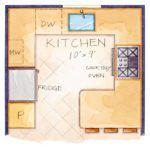 small kitchen efficient layout