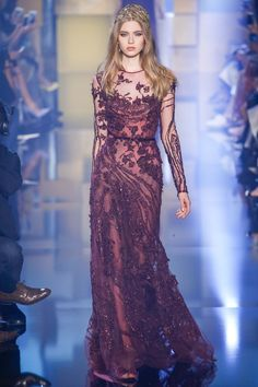 Elie Saab Fall 2015 Couture Fashion Show - Katya Ledneva (Women)
