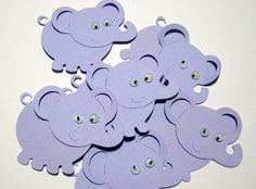 Elephant Diecuts Any Color Confetti  Baby by NakedRatDestash, $6.00