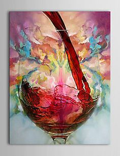 Still Life Oil Painting Hand-Painted Canvas Wall Art Other A... – USD $ 39.99