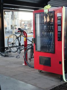 New vending machines with treats and bike supplies