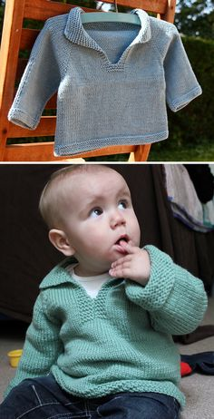 Free Knitting Pattern for Easy Baby Telemark Pullover - An easy, top-down seamle. Free Knitting Pattern for Easy Baby Telemark Pullover - An easy, top-down seamless sweater that has the added interest o. Baby Cardigan Knitting Pattern Free, Baby Sweater Patterns, Knit Baby Sweaters, Easy Knitting Patterns, Knitting For Kids, Free Knitting, Baby Patterns, Knitting Projects, Free Childrens Knitting Patterns