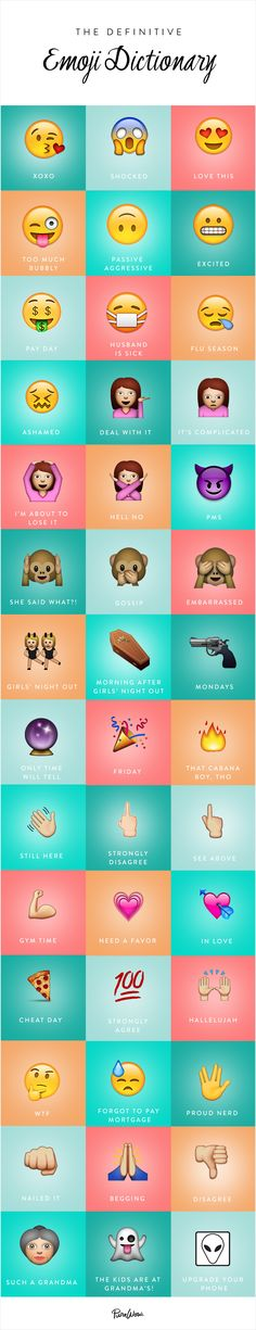 Well, whatever! Most of these mean something entirely different to me. It's been a really, really long time since  | The Definitive Guide to Emojis via @PureWow