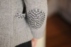Sparkly elbow patch and pocket trim! This could easily be a DIY!