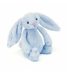 Adorable petit lapin bleu. Son hochet saura éveiller en douceur les sens de votre petit garçon.Taille : 18 cm