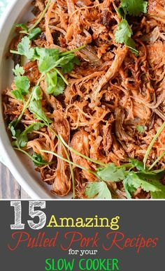 Everyone has a favorite pulled pork recipe, what's yours? We've rounded up 15 Amazing Slow Cooker Pulled Pork Recipes to simplify your life! Pulled Pork Recipe Slow Cooker, Pulled Pork Recipes, Slow Cooked Meals, Slow Cooker Pork, Crock Pot Cooking, Slow Cooker Recipes, Cooking Recipes, Crockpot Meals, Healthy Eating For Kids