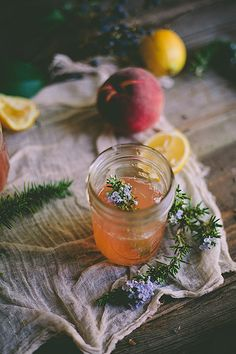Peach & Rosemary Blossom Lemonade by Eva Kosmas Flores | Adventures in ...
