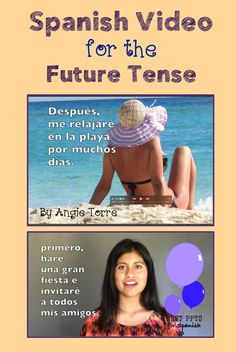 Spanish Video for the Future Tense: Best Comprehensible Input ever with Spanish subtitles, music, overlaid visuals, & animation.  Includes script, vocabulary, student handout and activities