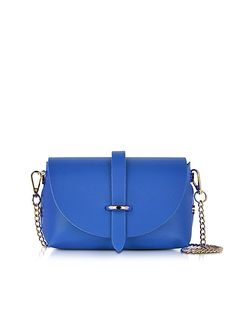 Le Parmentier // Blue Leather Shoulder Bag