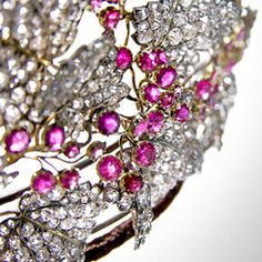 """The Danish Ruby Parure, also known as """"Ingrid's rubies"""", currently held by Crown Princess Mary of Denmark."""