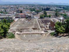 high view of argos, greece