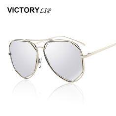 >> Click to Buy << VictoryLip 2016 New Hot Pilot Stylish Sunglasses Men Women Mirror Cool Shades Hexagon Flat Top Lens Sun Glasses Male Female #Affiliate