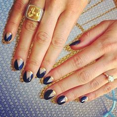 Latest nail art designs for women, Get ready for some manicure magic as we bring you the hottest nail designs from celebrities nail designs. Fabulous Nails, Gorgeous Nails, Love Nails, How To Do Nails, Fun Nails, Happy Nails, Nail Designs Spring, Nail Art Designs, Navy Blue Nails