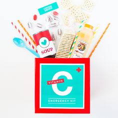 Have a sick friend and not sure how to help? With this DIY emergency Vitamin C kit, you can deliver a box of feel-better goodies right to their door!