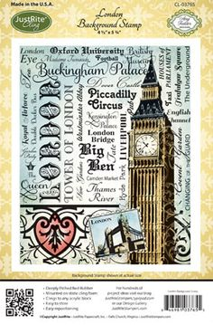JustRite London Background Stamp