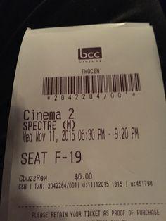 #Spectre the latest James Bond flick