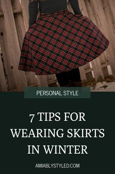 7 tips for wearing skirts in winter. Don't let the cold weather keep you from wearing your favorite beautiful skirts. Sustainable, ethical, conscious fashion tips. Sustainable Clothing, Sustainable Fashion, Cozy Winter Fashion, Slow Fashion, Fashion Tips, Ethical Fashion Brands, Fashion Group, Casual Street Style, Winter Style