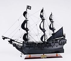 The Black Pearl Fictional ship Boat Model in Pirates of the Caribbean - Wooden