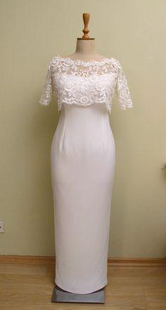 Wedding Bolero Capelet Cape Jacket Bridal Ivory Lace by gebridal