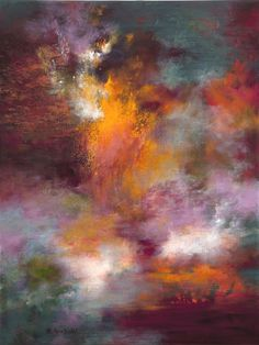 """Saatchi Online Artist: Rikka Ayasaki; Acrylic, Painting """"Passions-Boulogne forest 7023"""""""