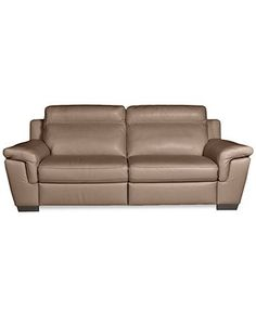 "Julius Leather Power Motion Sofa - Furniture - Macy's - 38""H, $1499"