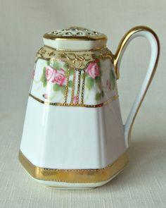 Antique Nippon Sugar Shaker-Nippon Sugar: Bella Rosa Antiques  BellaRosaAntiques.com