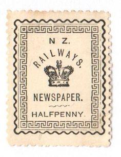 NEW ZEALAND 1890 Railway Newspapers ½d Black. - 39151 - Mint - NZ Fiscals Railway Charges - New Zealand Stamps - NEW ZEALAND - EASTAMPS