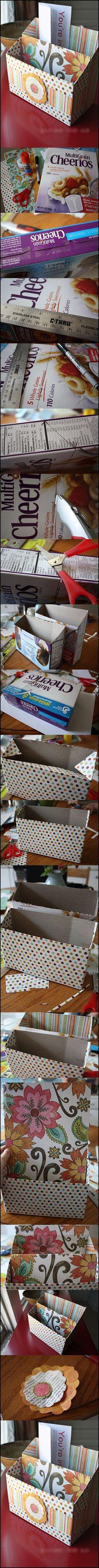 Wonderful DIY Organizer from cereal box   WonderfulDIY.com