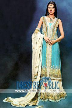 Turquoise Marisa - DR9965, Bridal Lehenga Wholesale, Designer Wedding Dresses Wholesale in New York City by www.dressrepublic.com