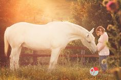 Fairytale Maternity session with a white Horse!! GORGEOUS!! Photography By: https://www.facebook.com/KenneyPhoto