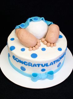 Baby Shower Cake - Another in our baby bottom line of baby shower cakes.