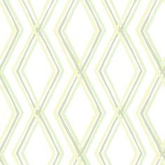 Salmiakki wallpaper, green. Design Saara Eklund