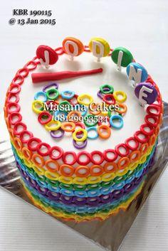 Masama Cakes: Rainbow Loom Birthday Cake For Jodine ...