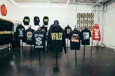 Cash Money Records and VFILES presented their exclusive pop-up shop in New York City. One step inside the hip retailer's boutique and you'll encounter a covey of items emblazoned with the record label's signature, eye-catching prints. Several favorites are the Hot Boy$' Guerrilla Warfare,  Lil Wayne's Tha Block Is Hot, Big Tymers' Hood Rich, as well as Juvenile's 400 Degreez album covers adorned on black tees.