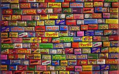 Colored wall full with Turbo stickers - Gum Brand brand 80s Background, Background Images, Sweet Memories, Childhood Memories, Gum Brands, Chewing Gum, Bubble Gum, Hd 1080p, Wall Colors