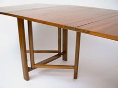 Maria Drop Leaf Teak Dining Table by Bruno Mathsson | From a unique collection of antique and modern dining room tables at https://www.1stdibs.com/furniture/tables/dining-room-tables/