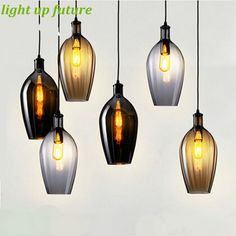 104.41$ Watch now - http://aiu5y.worlditems.win/all/product.php?id=32604807761 - Vintage Loft Creative Glass Pendant Lights for Dining Room Bar Restaurant Handmade Bottle Shape Pendant Lamps AC 80-265V 2134