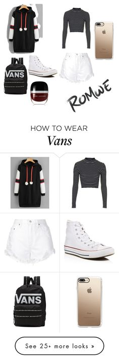 """""""Stripes"""" by summerizzy13 on Polyvore featuring Topshop, Nobody Denim, Converse, Vans, Marc Jacobs, Casetify and romwe"""