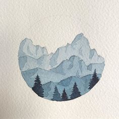 Like times, 31 comments - Sarah Hernandez (Lost Swiss Miss) on Instag - Aquarelle - Arte Art Drawings Sketches Simple, Art Drawings For Kids, Simple Drawing Designs, Drawing Ideas, Art Inspo, Painting Inspiration, Art And Illustration, Landscape Illustration, Mountain Illustration
