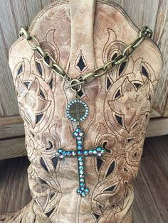 Turquoise Cross Necklace ~ Pink Panache
