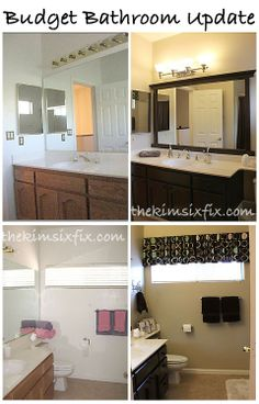 Bathroom Makeovers For Less 70's bath gets budget redo | woods, bath and decorating