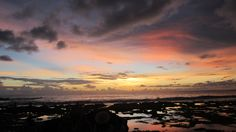 Sunset in Sawarna. We don't need Instagram nor Photoshop to get this color composition. Taken using only a cheap Canon Pocket Camera.