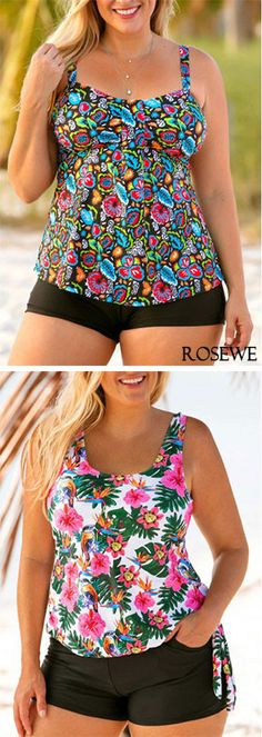 Cute plus size swimwear 2018#rosewe#plussizeswimwear#plussizefashion