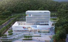 더 알아보려면 글을 방문하세요. Healthcare Architecture, Office Building Architecture, University Architecture, Architecture Panel, Concept Architecture, Modern Architecture, Arch Building, Building Design, Villa Design