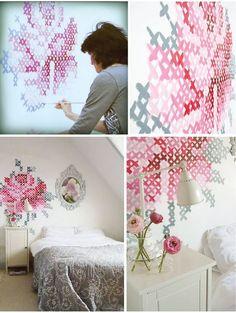 cross stitch wall pattern